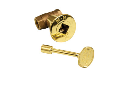 Dante Gas Valve Straight Brass