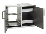 Fire Magic - Echelon - Flush Mount - Double Doors w/ Tank Tray & Dual Drawers - Louvers