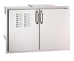 Fire Magic - Select- Double Doors w/ Dual Drawers, Tray and louvers