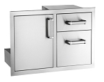 Fire Magic - Flush Mount - Access Door w/ Double Drawer