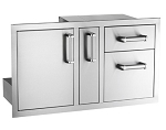 Fire Magic - Flush Mount - Access Door w/ Platter Storage & Double Drawer