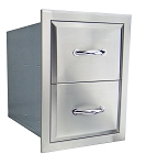 Agape Stainless Double Drawer - Fully Enclosed