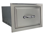 Agape Stainless Single Drawer - Fully Enclosed