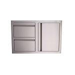 RCS Stainless Steel Double Drawer And Door Combo