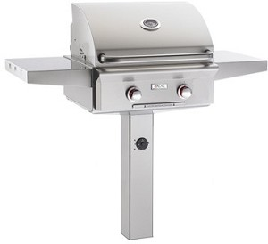 "AOG - 24"" In-Ground Post Grill w/ Lights"