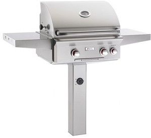 "AOG - 24"" In-Ground Post Grill w/ Rotisserie & Back Burner"