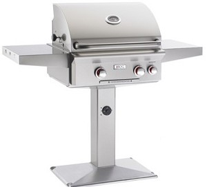 "AOG - 24"" Patio Post Grill w/ Rotisserie & Back Burner"