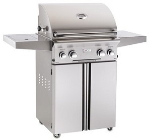 "AOG - 24"" Portable Grill w/ Rotisserie, Back Burner, Side Burner, & Lights"