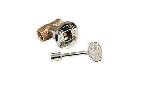 Dante Gas Valve - Straight, Chrome